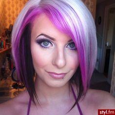 platinum blonde hair with purple underneath - Google Search