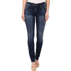 True Religion Halle Skinny Jeans in Sterling Blue (Sterling Blue)... ($72) ❤ liked on Polyvore featuring jeans, blue, distressed skinny jeans, ripped skinny jeans, super skinny jeans, skinny leg jeans and true-religion skinny jeans
