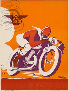 Vintage French Motorcycle Poster