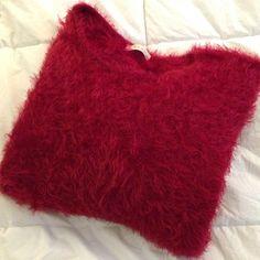 "Fuzzy ""Caterpillar"" Cozy Red Sweater Fuzzy sweater. 65% acrylic. 35% polyester. No trades. Tobi Sweaters Crew & Scoop Necks"