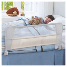 For Myles at 2nd birthday: The Munchkin Safety Toddler Bed Rail available at Target.