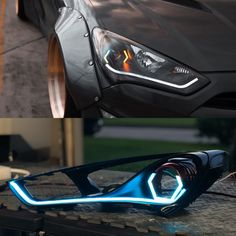 Genesis coupe getting some awesome custom headlights Custom Headlights, Car Headlights, Head Light, Tail Light, Cool Car Gadgets, Car Gauges, Hyundai Genesis Coupe, Custom Consoles, Diy Led