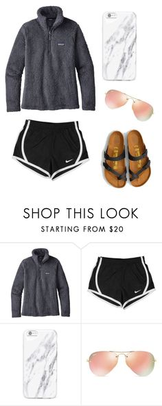 """"" by litzyhernandez1234 ❤ liked on Polyvore featuring Patagonia, NIKE, Ray-Ban and American Eagle Outfitters"