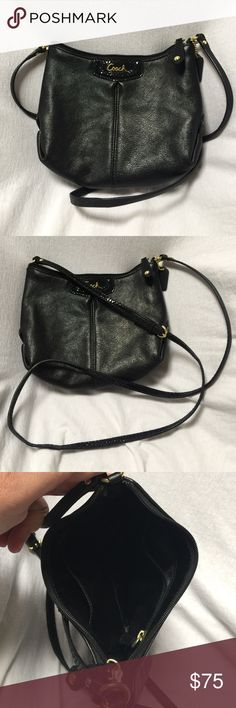 "Black Coach Purse NWOT Adorable Coach purse that has never been used. This purse measures approximately 7"" by 9""band has a long strap for easy carrying. Dust bag not included. Coach Bags Shoulder Bags"