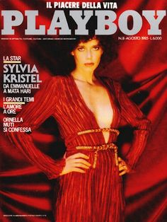 Playboy Italy August 1985 with Sylvia Kristel on the cover of the magazine