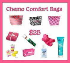 Donate 25.00 and we will fill up these cute thermal totes with supplies for chemo patients and donate to local cancer treatment centers...Ask me how!! :) dcfernander31@gmail.com  or www.mythirtyone.com/fernander