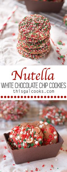 These melt in your mouth Nutella White Chocolate Chip Cookies are full of chocolate and Nutella flavor. They're filled with white chocolate chips for an extra burst of chocolate flavor!