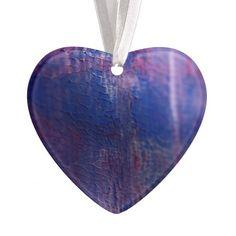 New fresh Winter acrylic Heart / Purple Purple Christmas Ornaments, Fresh, Create, Heart, Winter, Design, Winter Time, Hearts
