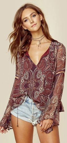 New Trendy Boho Chic Fashion: Dresses, Tops, Pants Hippie Style, Looks Hippie, Estilo Hippie Chic, Mode Hippie, Bohemian Mode, Bohemian Style, Style Bobo Chic, Style Casual, Boho Outfits