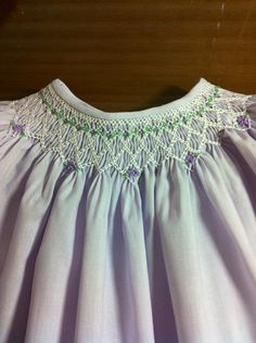 Toddler Girl Smocked Bishop Dress Size 3 by SeamsbyLeslie on Etsy