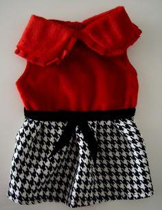 Vestido Rouge - CHEIOS DE GRAÇA - MODA PARA PET - ROUPA PARA CACHORRO