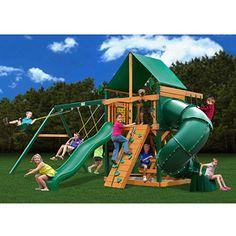 Gorilla Playsets Mountaineer Deluxe Cedar Wooden Swing Set