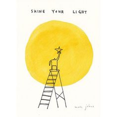Shine your light. I will draw (and paint) this for you for $40. See link in bio to get one. (Part of my $40 drawing series, available til Dec. 4) . Now more than ever the world needs us to shine, to bring light to a dark world, to share our gifts, our voice, our passions, to bring a little bit of YOU, glorious YOU to the party. . #marcjohns #marcjohnsart #shine #beyou #40dollardrawing #illustration #drawing #watercolour #shineyourlight