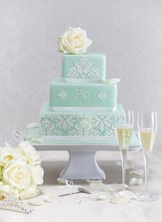 Mint green wedding cake - Cake by Hana Rawlings