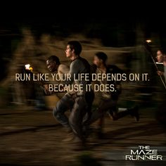 maze runner quotes | Maze Runner' promotional images feature quotes from the book