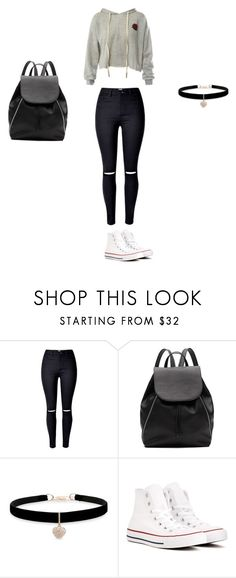 """Lazy shopping"" by rospark05 on Polyvore featuring Witchery, Betsey Johnson, Converse and Sans Souci"