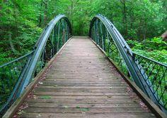 Bowstring Pony Truss Bridge in Cunningham Falls State Park. Photo by Kai Hagen.