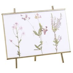Gold-Colour Metal Easel with Floral Design | Maisons du Monde