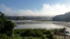 Morgennebel am Gilwa-See