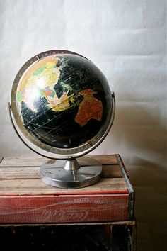 Antique Replogle Starlight Globe 1950s Old by blueflowervintage