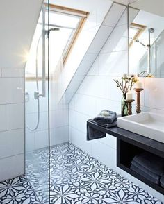 Attic Storage Top Loft Conversion Ideas That Will Transform Your Attic - Shower Room in Your Attic W Loft Bathroom, Bathroom Interior, Bathroom Ideas, Bathroom Remodeling, Bathroom Designs, Bathroom Mirrors, Small Attic Bathroom, Bathroom Cabinets, Remodel Bathroom