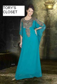 Very Fancy dubai Kaftan/Abaya/jalabiyaRoyal blue by TORYSCLOSET, $119.99