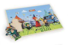 Ritter Rost Setzpuzzle. Ritter Rost und seine Freunde laden kleine Kinderfinger ein zur spielerischen Motorikschulung mit diesem tollen Setzpuzzle aus stabilem Schichtholz! Die 5 Puzzleelemente lassen sich von kleinen Fingern gut greifen und bewegen. Holzspielzeug