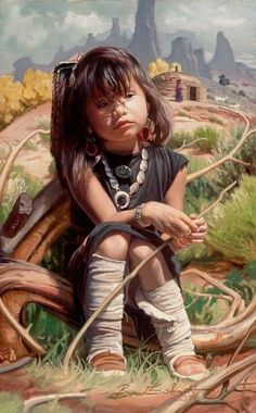 Paintings of Sharon Brening - Bing Native Child, Native American Children, Native American Pictures, Native American Beauty, Indian Pictures, Native American Artists, American Indian Art, American Indians, American Life