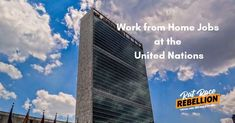 Work from Home Jobs at the United Nations Open Now - Work From Home Jobs by Rat Race Rebellion Home Based Jobs, Work From Home Jobs, Un Jobs, Job Goals, United Nations Development Program, Mo Money, Rat Race, Open Up, New Job