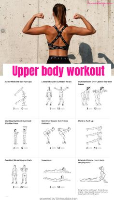 Ready to smash an upper body workout? Check out this home-workout to strengthen your upper body muscles! Upper body workout / Home-workout / Upper body muscles / Muscles / Workout