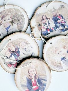 How To Transfer Images Onto Wood Slice Ornaments wood ornaments Transferring Images Onto Wood Slice Ornaments - Taryn Whiteaker Picture Ornaments, Wood Ornaments, Ornament Crafts, Ornaments Image, Christmas Wood, Christmas Crafts, Christmas Ornaments, Xmas, Merry Christmas