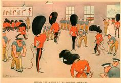 H.M. Bateman - Behind the scenes at Wellington Barracks