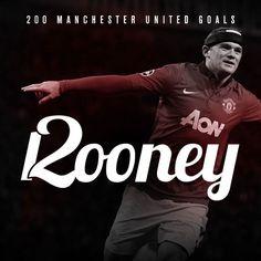 Wayne Rooney; 200 goals for Manchester United