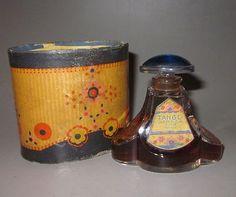 "1913 Rare Vintage Crystal Baccarat ""Tango"" by Gabilla Perfume Bottle Paris France"