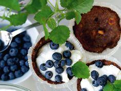 Glutenfri blåbärspaj med nötbotten (kock Fredrik Paulún)