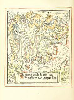 Image taken from page 36 of 'Queen Summer; or, the Tourney of the lily & the rose. Penned & portrayed by Walter Crane' | by The British Library