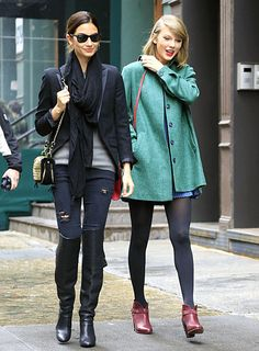 Taylor Swift and Victoria's Secret model Lily Aldridge head to Robert DeNiro's NYC eatery Locanda Verde for lunch on Mar. 28