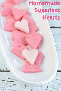 Homemade Sugarless Valentine Heart Candies #ValentinesDay Valentine's Day (gluten-free, sugar-free)