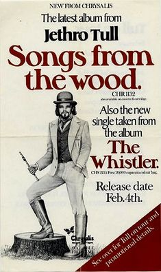 Jethro Tull promo poster for Songs From The Wood 1977 Concert Posters, Music Posters, Jethro Tull, Pin Up Posters, British Rock, Progressive Rock, Vintage Rock, Latest Albums, Best Rock