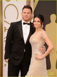 Jenna Dewan-Tatum & Channing Tatum at the 2014 Academy Awards held at the Dolby Theatre on Sunday (March 2) in Hollywood. Jenna is wearing Reem Acra.