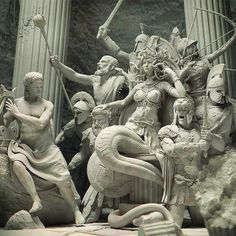 greek statue In Greek mythology, Medusa was a monster, a Gorgon, generally described as a winged human female with living venomous snakes in place of Medusa Kunst, Medusa Art, Greek Mythology Art, Greece Mythology, Greek Mythology Tattoos, Greek Statues, Ancient Greek Sculpture, Turn To Stone, Greek Art