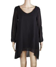 Chiffon Open Shoulder O-neck Loose Shift Tube Mini Dress Long T Shirts Tops