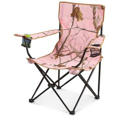Realtree APC Pink Camo Folding Lawn Camp Chair - holds up to 221 pounds, steel frame, 2 cupholders, 2 cute!! Comes with a TOTE carrying case.