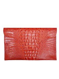 J Winters 249 Red Croc Envelope Clutch Crocs Clutches