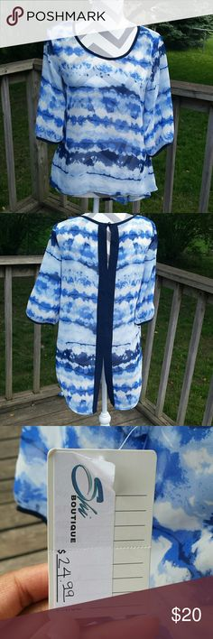Blue hi-low long sleeve NWT. Blue hi-low long sleeve. A.byer is the brand. Size small. NWT. A.Byer Tops