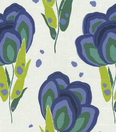 Annie Selke Happy Poppys Blue Marine Designer Fabric/ green and navy bedroom. I love anything with green in it! Textures Patterns, Fabric Patterns, Print Patterns, Home Decor Fabric, Fabric Crafts, Textiles, Outdoor Fabric, Drawing, Graphic