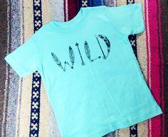 Wild Kid's Shirt Boy's Tops Girl's Tops Children by Feather4Arrow, $16.00