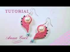 "Tutorial macrame earrings "" Clarissa the heart in half ""/ Il cuore a metà / Simple earrings - YouTube"