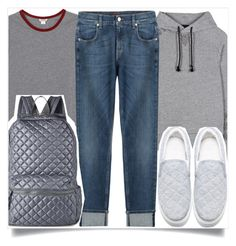 """""""School Style"""" by madeinmalaysia ❤ liked on Polyvore featuring Monki, Y-3, 7 For All Mankind and Nila Anthony"""