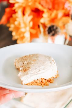 This super simple keto pumpkin cheesecake recipe is no-bake and ready in 10 minutes. Delicious pumpkin spice flavours while being low carb! A sugar free, scrumptious fall and Thanksgiving dessert! Low Carb Recipes, Real Food Recipes, Baking Recipes, Dessert Recipes, Yummy Food, Healthy Recipes, Desserts, Pumpkin Cheesecake Recipes, Gluten Free Cheesecake